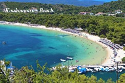 Koukounaries beach at Skiathos island in Greece