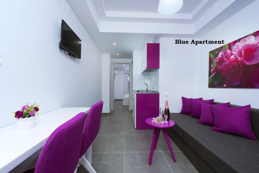 Thassos Limenaria Red & Blue Apartments for 4 person